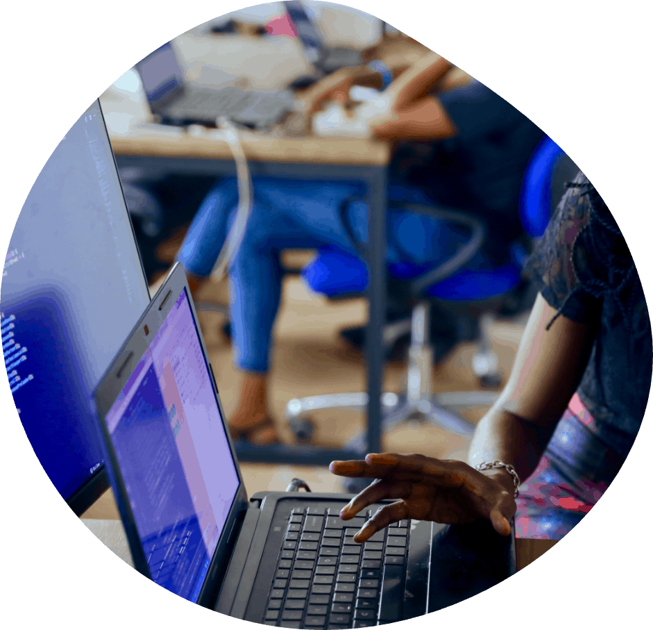 Computer and desk providing WordPress support